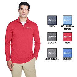 COOL & DRY HEATHERED PERFORMANCE 1/4 ZIP