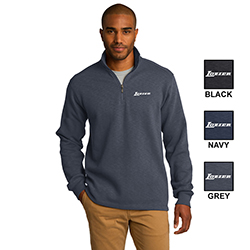 SLUB FLEECE 1/4 ZIP PULLOVER