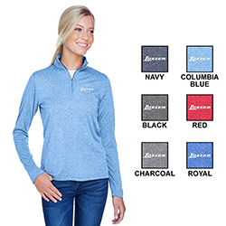 LADIES COOL & DRY HEATHERED PERFORMANCE 1/4 ZIP
